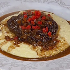 Rioja Braised Beef Cheeks with Creamy Polenta