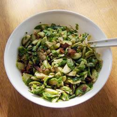 Brussels Sprouts with Bacon and Pine Nuts