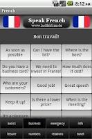 Screenshot of Speak French Free