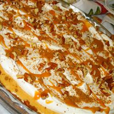 Swirled Pumpkin and Cream Cheese Cheesecake