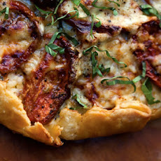 Roasted Tomato-Basil Tart Recipe