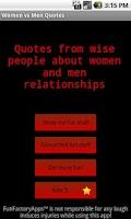 Screenshot of Women vs Men Quotes