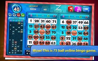 Screenshot of Bingo City Live 75+FREE slots