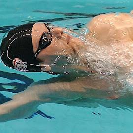 The Backstoke  by Oscar Salinas - Sports & Fitness Swimming (  )