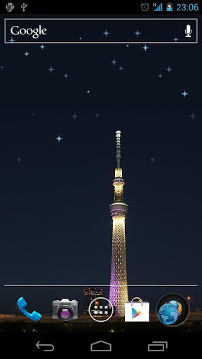 輝く星壁紙 東京スカイツリ
