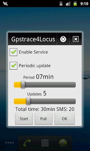 Locus - addon GpsTrace