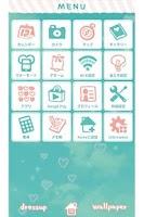 Screenshot of そらいろハート for[+]HOMEきせかえテーマ