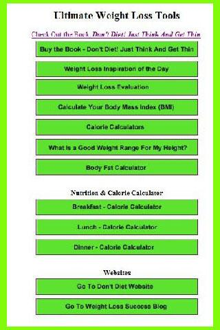 Ultimate Weight Loss Tools