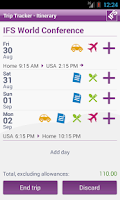 Screenshot of IFS Trip Tracker