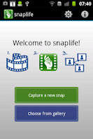 Screenshot of snaplife - tell your story