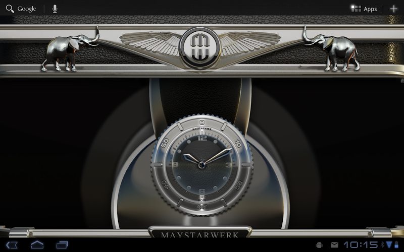 Clock Widget Black Elephant Screenshot 6