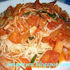 Angel Hair with Spicy Marinara Sauce and Shrimp