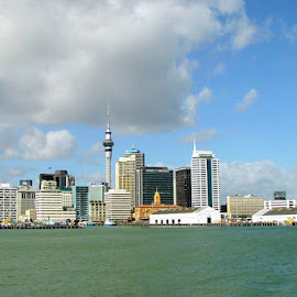 Auckland  city on sea shore  by Sethi Kc - Landscapes Travel ( auckland  city on sea shore, Urban, City, Lifestyle,  )