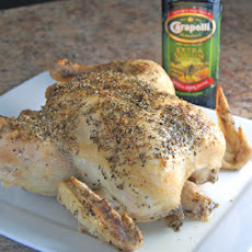 Olive Oil and Italian Herb Roasted Chicken with Carapelli Olive Oil