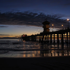 by Josh Behrens - Landscapes Sunsets & Sunrises ( sunset, pier, beach, huntington beach )