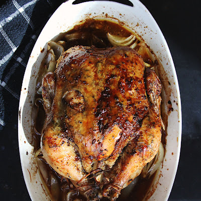 Rosemary-Maple Roast Chicken