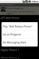 Screenshot of Phone Ringtones