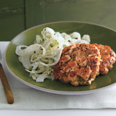 Summer Salmon Cakes with Zucchini Fennel Slaw