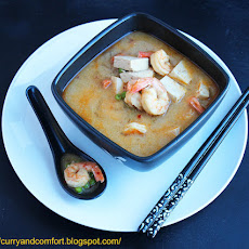 Thai Fusion Tofu and Shrimp Coconut Soup