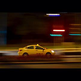 Drifting through space by YEK 567 - Transportation Automobiles ( istanbul, yellowcab, taksi, igersturkey )