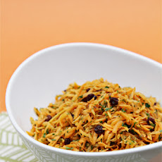 Carrot Salad with Carrot Tops, Currants and Toasted Cumin