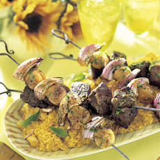 Moroccan Lamb Kebabs with Golden Couscous