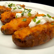 Sweet Potato Skins With Bacon