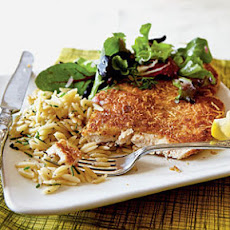 Chicken Milanese (without the spring greens)