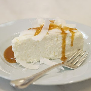 Coconut Pudding with Caramel Sauce