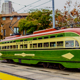 trolly by Roman Gomez - Transportation Trains ( san diego )