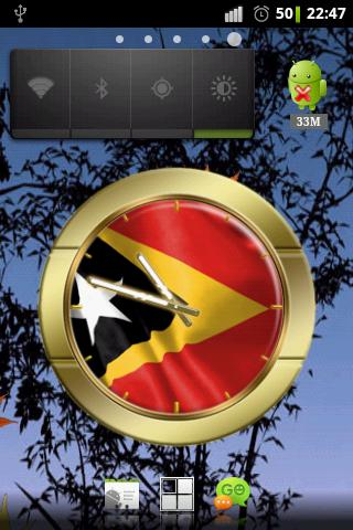 East Timor Leste flag clocks