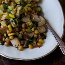 Lemony Chickpea Stir-fry
