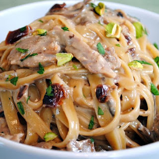 Tea-Smoked Duck Fettuccine