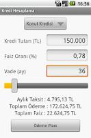 Screenshot of Kredi Hesaplama