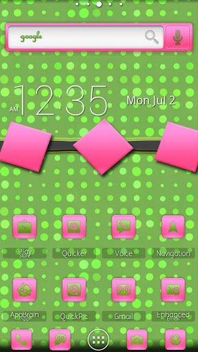 ADW Theme PinkNGreenDreams