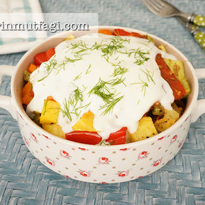 Baked Vegetables With Tomato Sauce And Yogurt