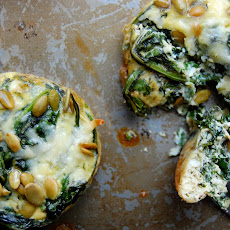 Ramekin Frittatas with Kale, Mint & Pecorino