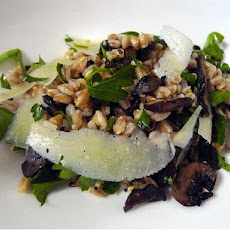 Farro Salad with Mushrooms and Pecorino Cheese