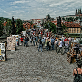 Praha - Karlův most by Dominic Jacob - City,  Street & Park  Street Scenes ( czech, bridge, charles, karlův, praha, karlův most, prague, charles bridge )