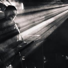 Parabellum by Stéphane zOz - People Musicians & Entertainers ( concert, parabellum, bass, bw, zoz, rock, festival, punk, portrait, live )