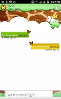 Screenshot of GO SMS/NeonGiraffeButterfly