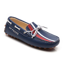 GF Ferre Striped Moccasin Loafer SHOE