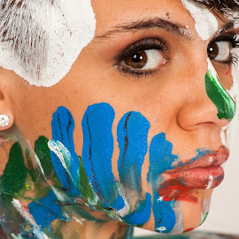 Hello by Nathan Isaksen - People Body Art/Tattoos ( face, facepaint, paint )