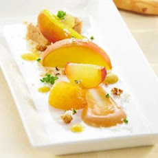 Bourbon-Infused Peaches with Crème Anglaise