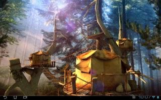 Screenshot of Tree Village 3D Free lwp