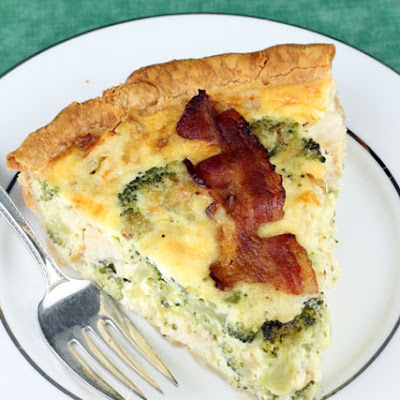 Chicken Broccoli Cheddar Quiche
