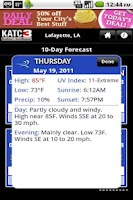 Screenshot of KATC WX