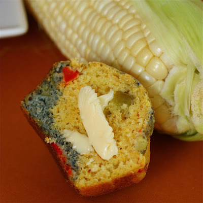Bobby Flay's Blue and Yellow Corn Muffins
