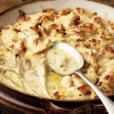 Baked Chicory With Chicken In A Sage & Mustard Sauce