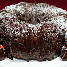 Cabernet Chocolate Cake With Strawberries